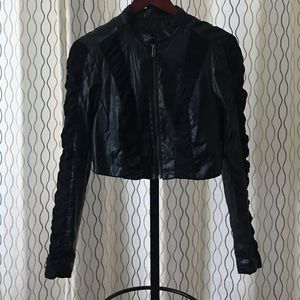 Faux leather jacket by Bebe